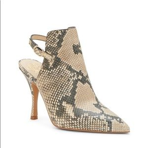Vince Camuto Leather Booties Animal Heels Boots